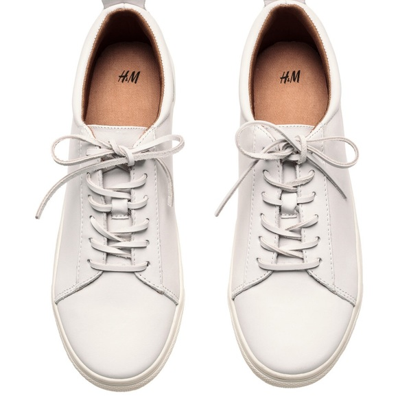 H\u0026M Shoes | Hm White Leather Sneakers